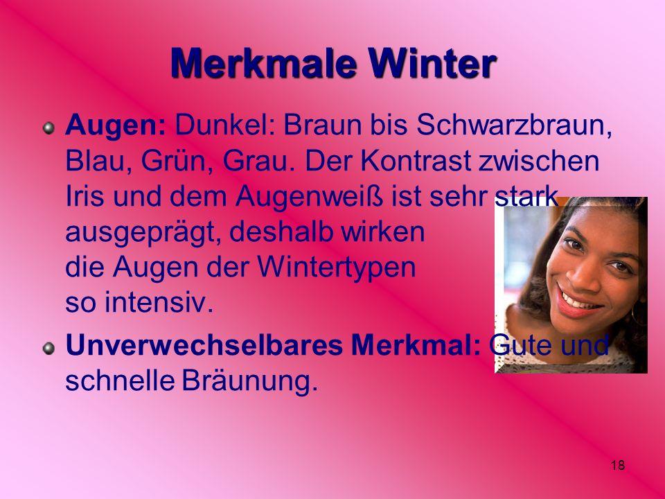 Merkmale Winter