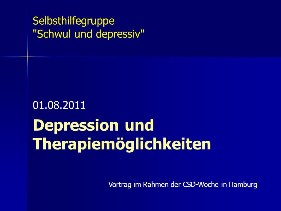 Depression und Therapiemöglichkeiten