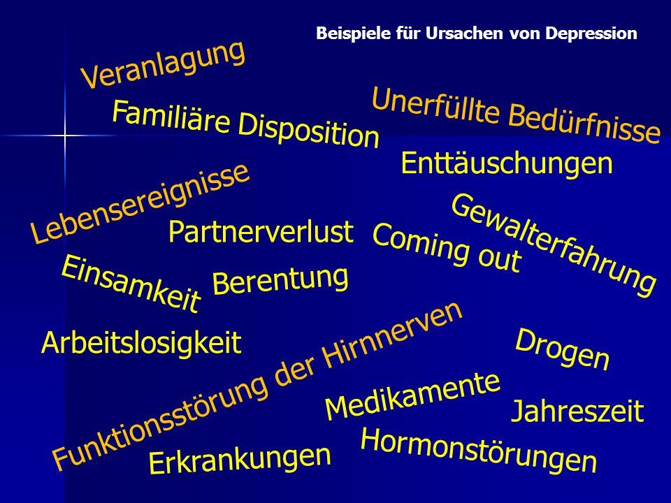Unerfüllte Bedürfnisse Familiäre Disposition