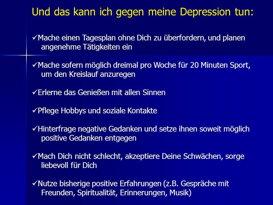 Und das kann ich gegen meine Depression tun: