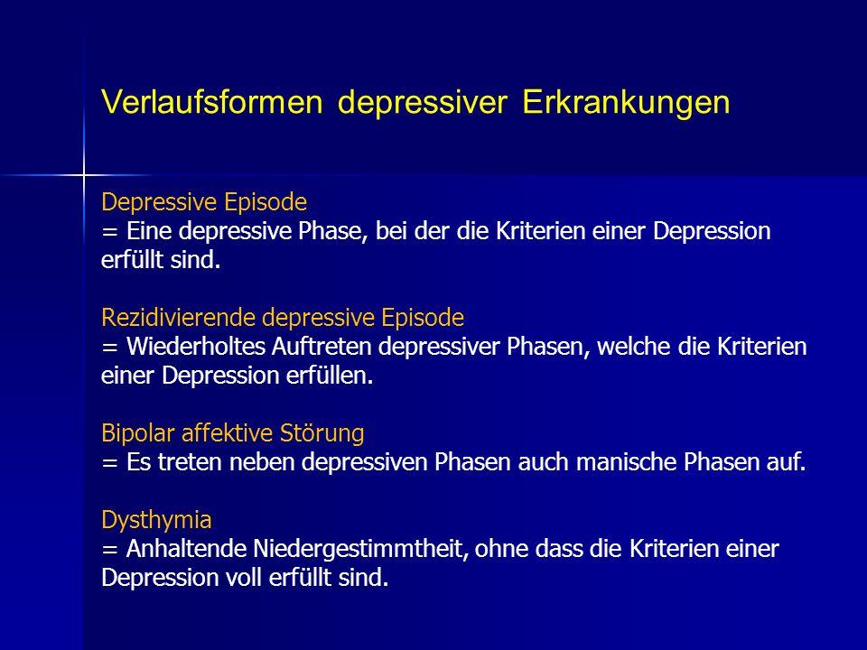 Verlaufsformen depressiver Erkrankungen