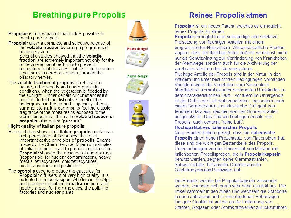 Breathing pure Propolis Reines Propolis atmen