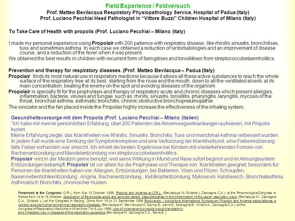 Field Experience / Feldversuch Prof
