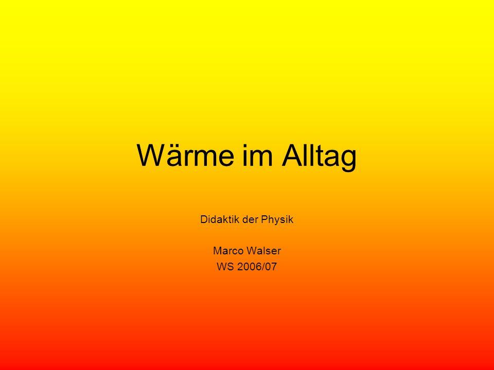 Didaktik der Physik Marco Walser WS 2006/07