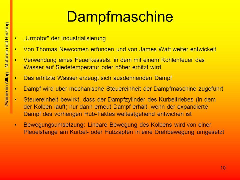 """Dampfmaschine """"Urmotor der Industrialisierung"""