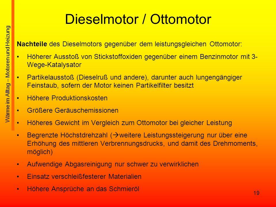 Dieselmotor / Ottomotor