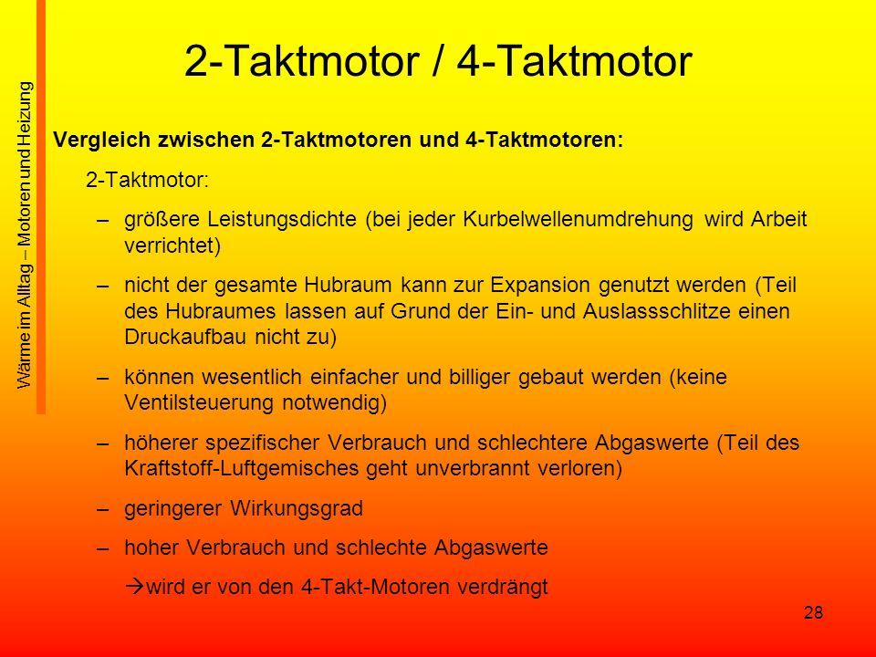 2-Taktmotor / 4-Taktmotor