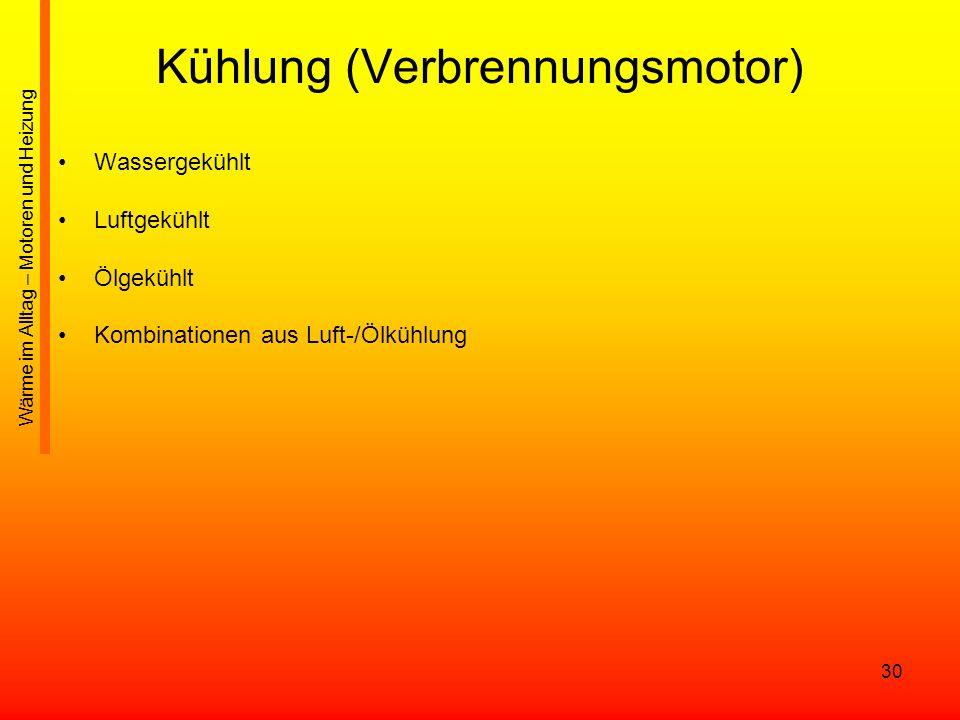 Kühlung (Verbrennungsmotor)