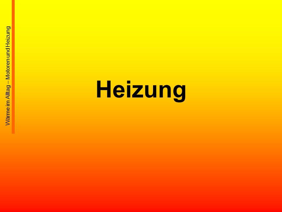 Heizung Wärme im Alltag – Motoren und Heizung