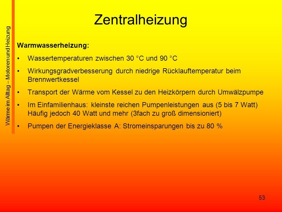 Zentralheizung Warmwasserheizung: