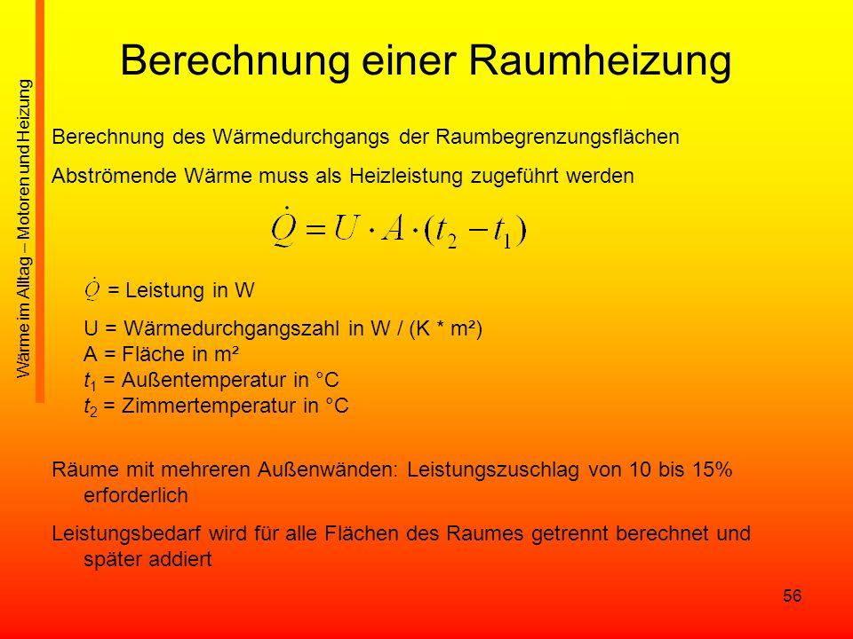 Berechnung einer Raumheizung
