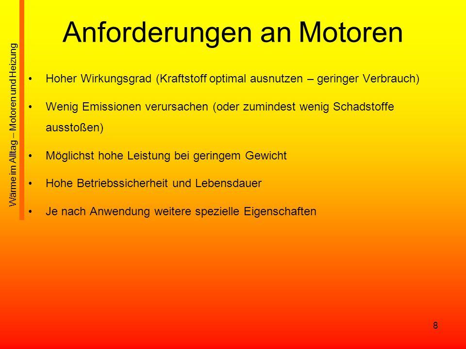 Anforderungen an Motoren