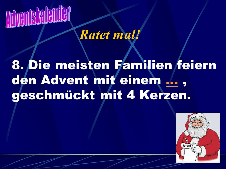 Adventskalender Ratet mal. 8.