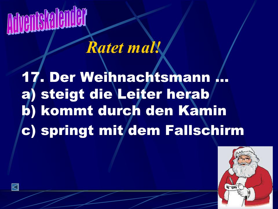 Adventskalender Ratet mal. 17.