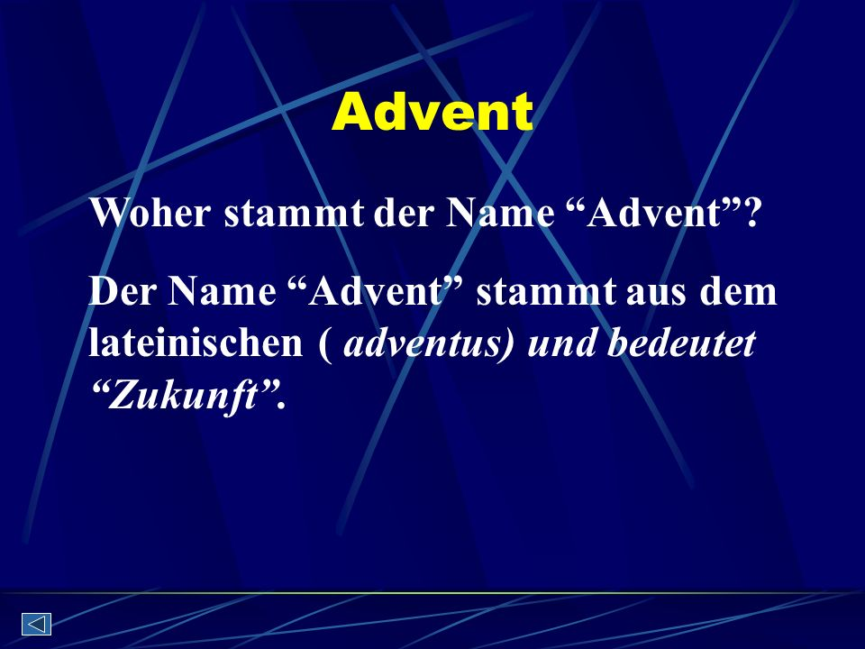 Advent Woher stammt der Name Advent