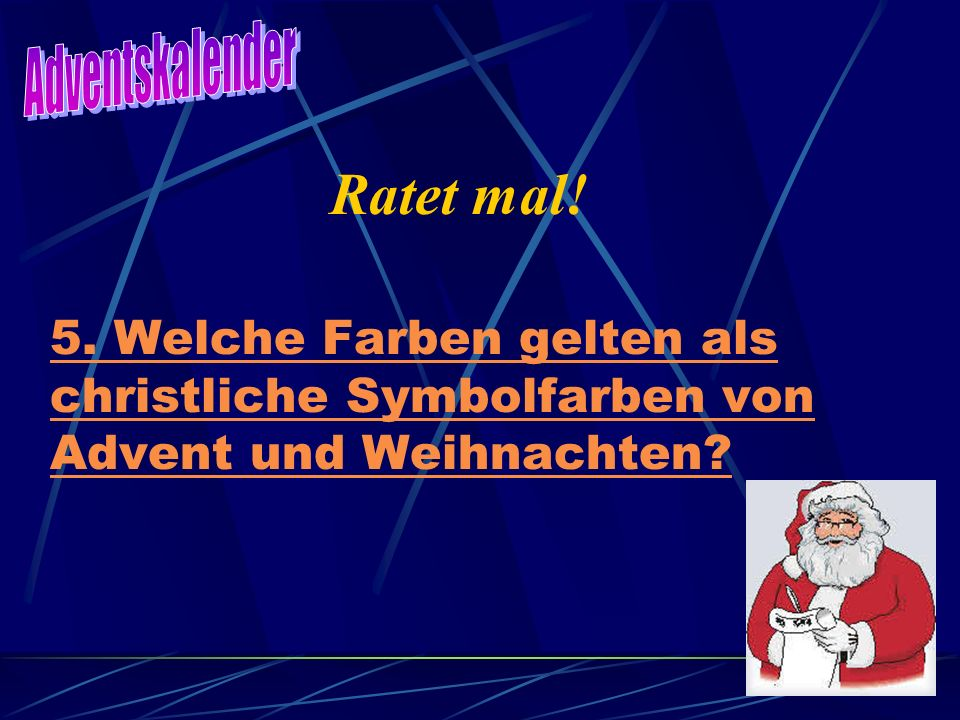 Adventskalender Ratet mal. 5.