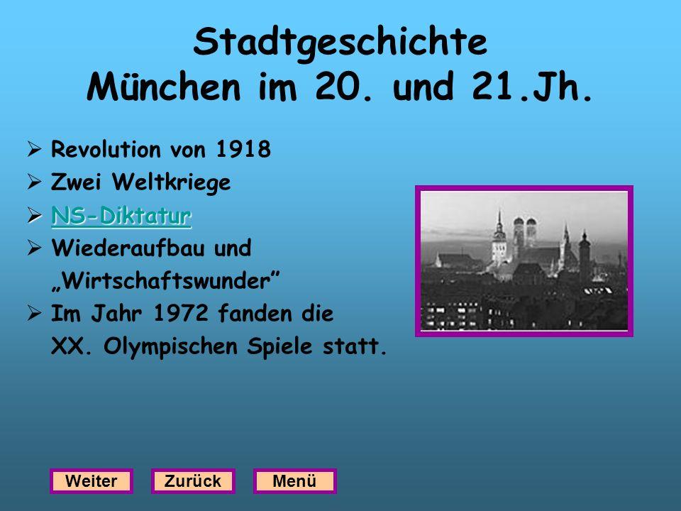 Stadtgeschichte München im 20. und 21.Jh.