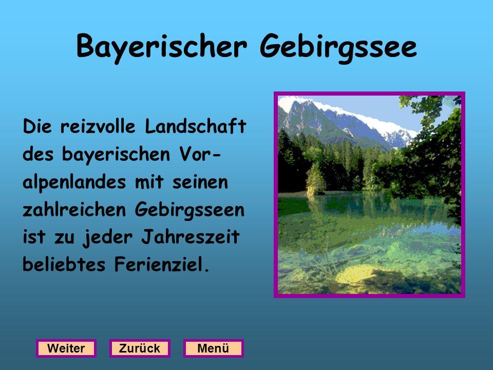 Bayerischer Gebirgssee