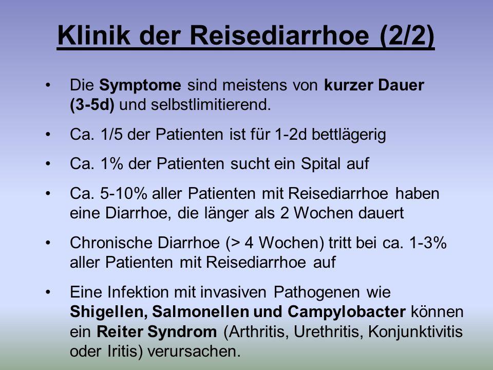 Klinik der Reisediarrhoe (2/2)