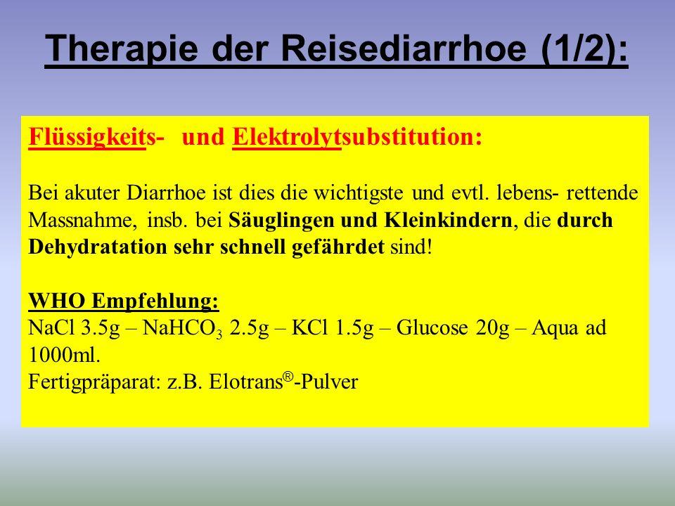 Therapie der Reisediarrhoe (1/2):