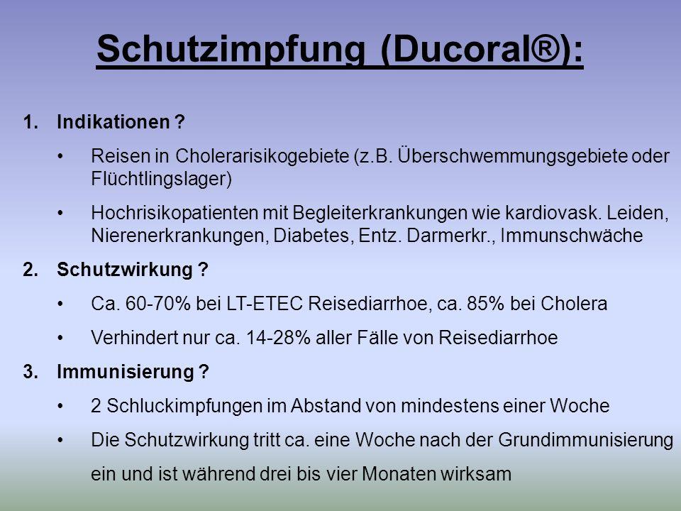Schutzimpfung (Ducoral®):