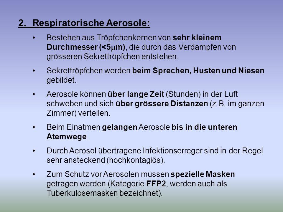 2. Respiratorische Aerosole: