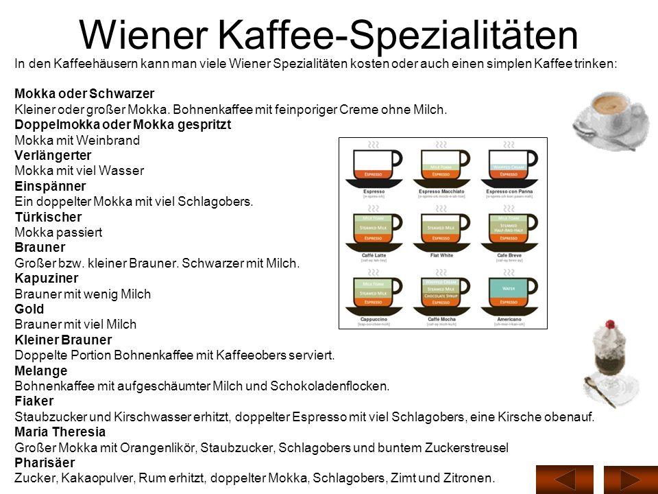 Wiener Kaffee-Spezialitäten