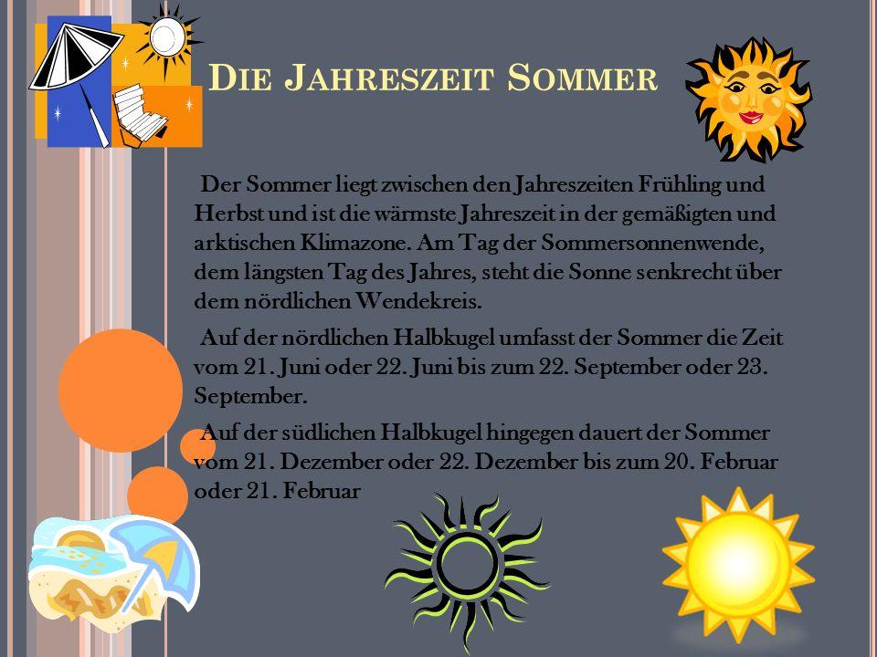 Die Jahreszeit Sommer