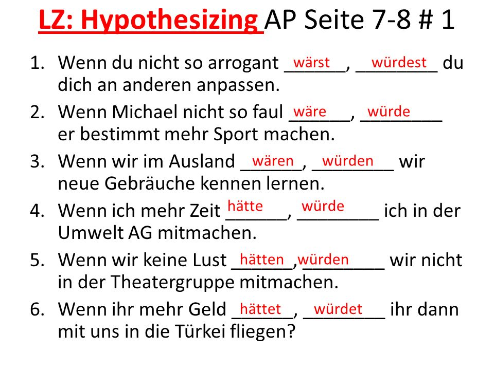 LZ: Hypothesizing AP Seite 7-8 # 1