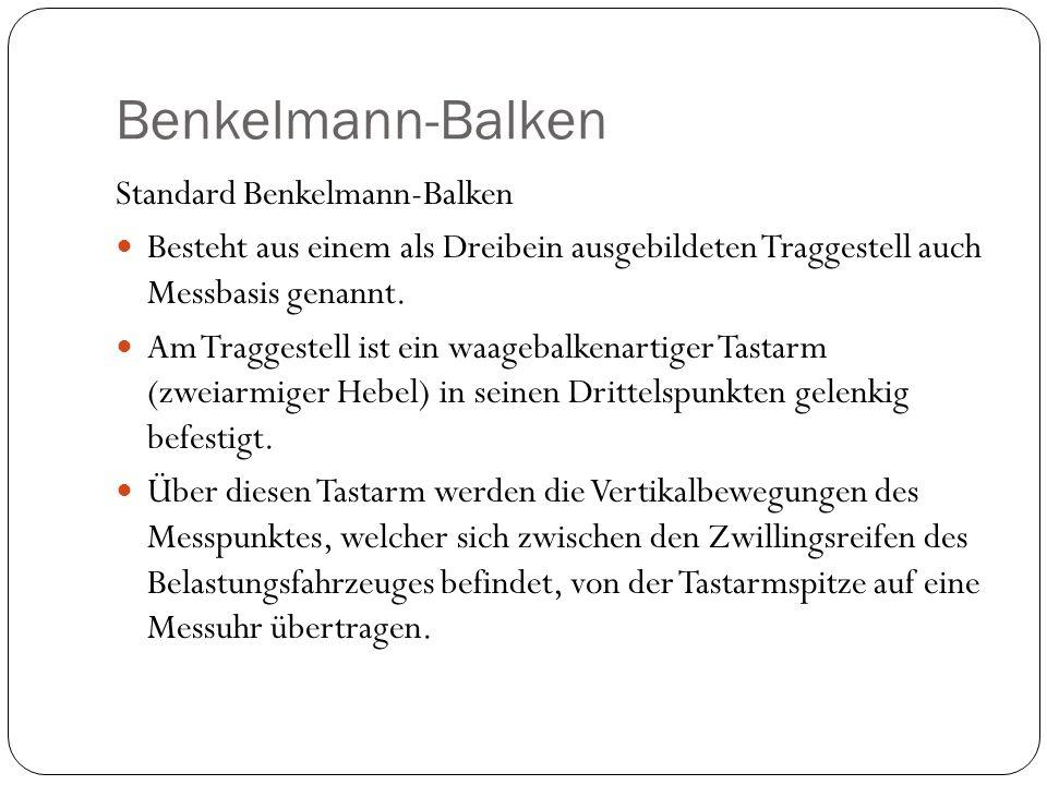 Benkelmann-Balken Standard Benkelmann-Balken