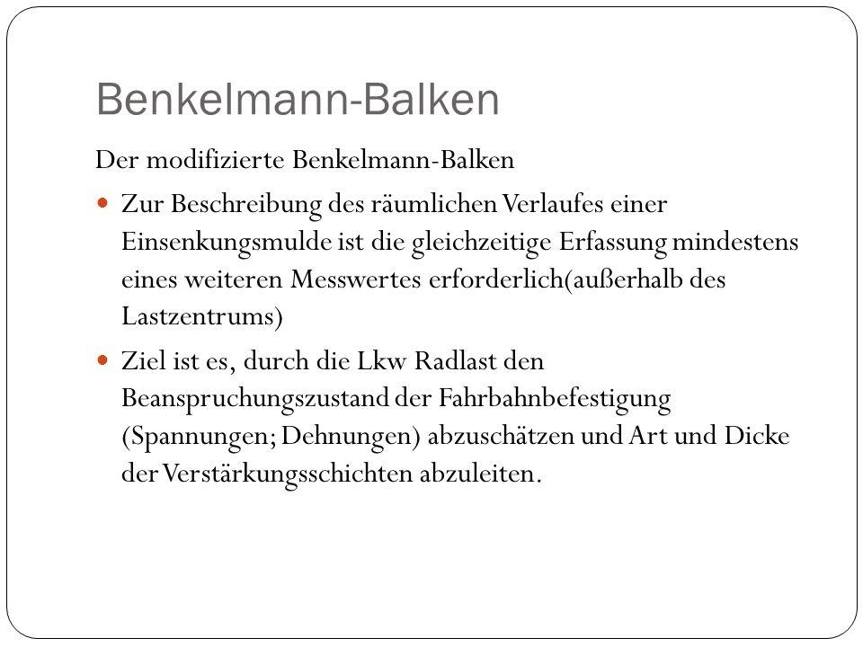 Benkelmann-Balken Der modifizierte Benkelmann-Balken