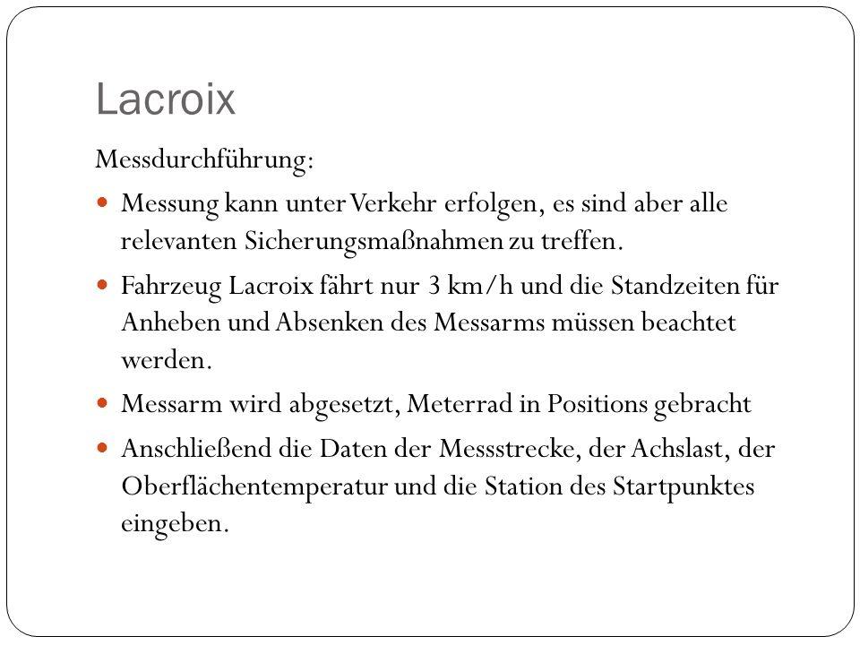 Lacroix Messdurchführung: