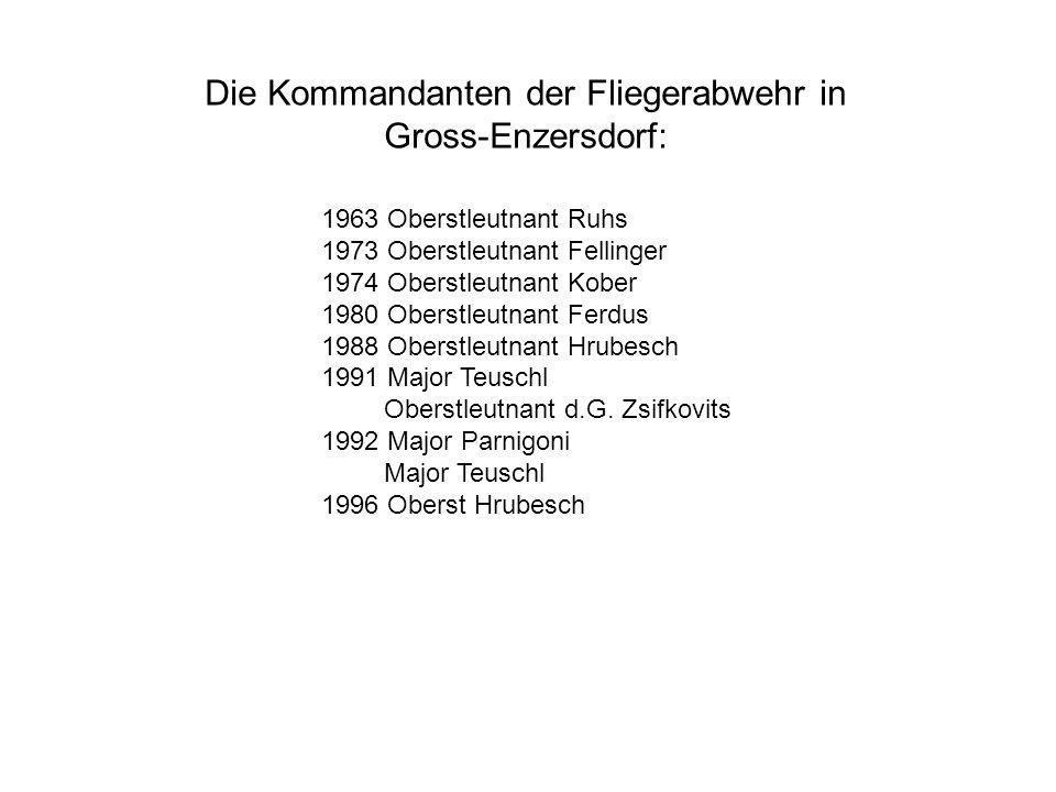 Die Kommandanten der Fliegerabwehr in Gross-Enzersdorf:
