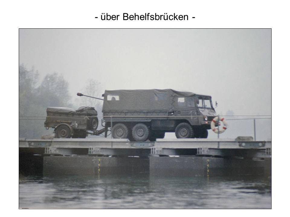 - über Behelfsbrücken -