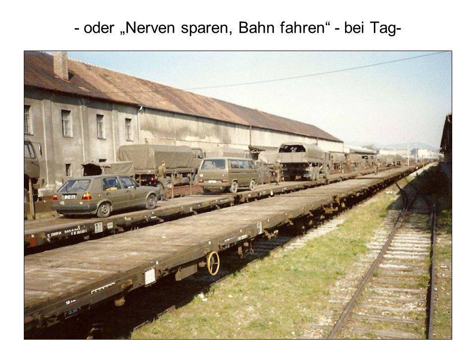 """- oder """"Nerven sparen, Bahn fahren - bei Tag-"""