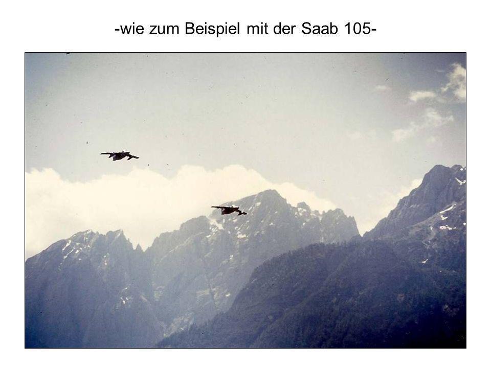 -wie zum Beispiel mit der Saab 105-