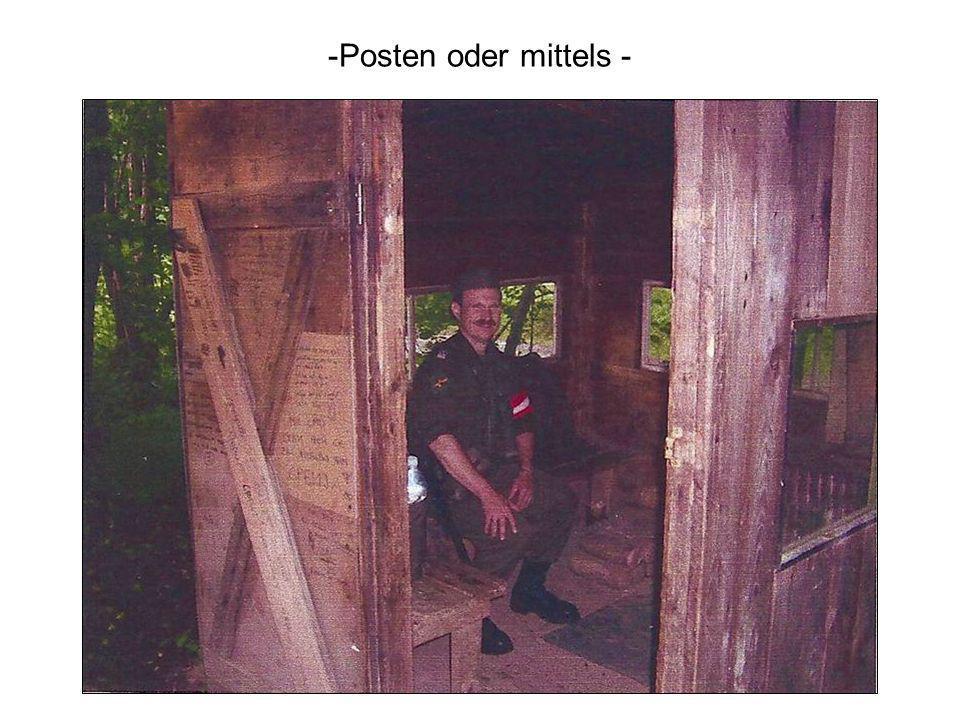 -Posten oder mittels -