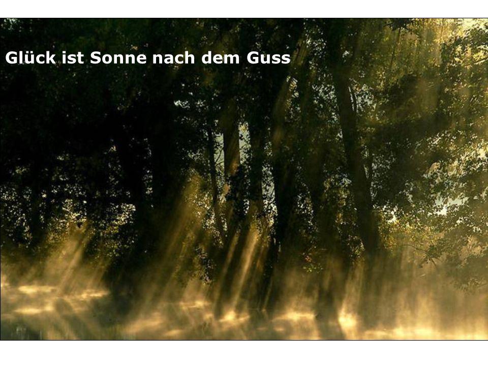 Glück ist Sonne nach dem Guss