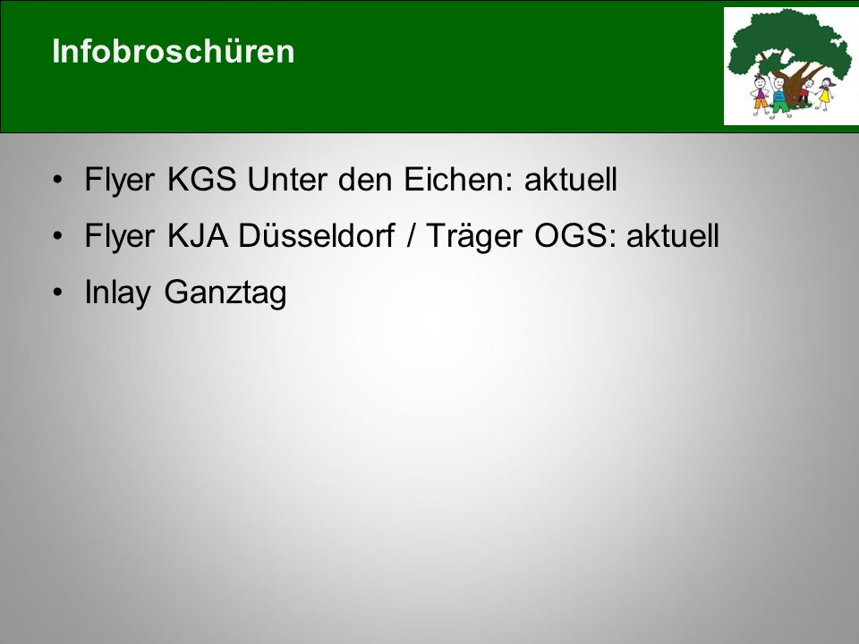 Infobroschüren Flyer KGS Unter den Eichen: aktuell.