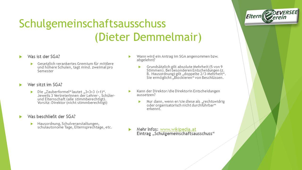 Schulgemeinschaftsausschuss (Dieter Demmelmair)