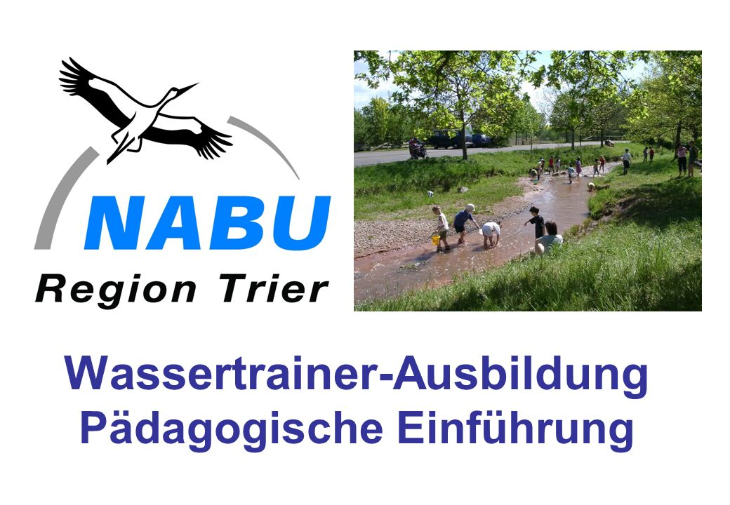 Wassertrainer-Ausbildung Pädagogische Einführung