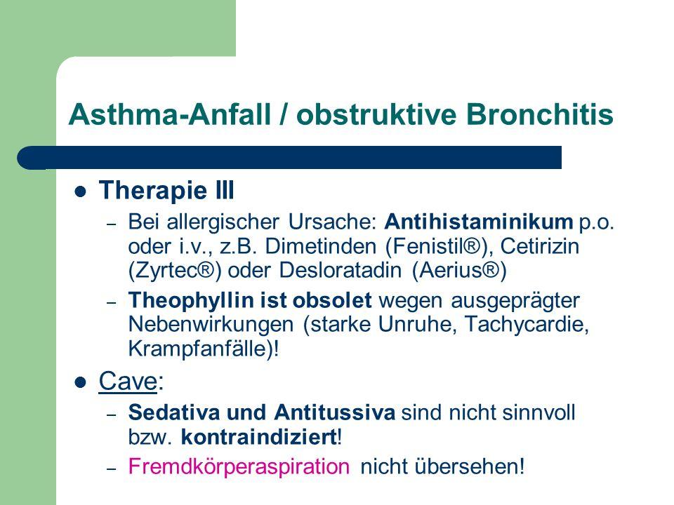 Asthma-Anfall / obstruktive Bronchitis
