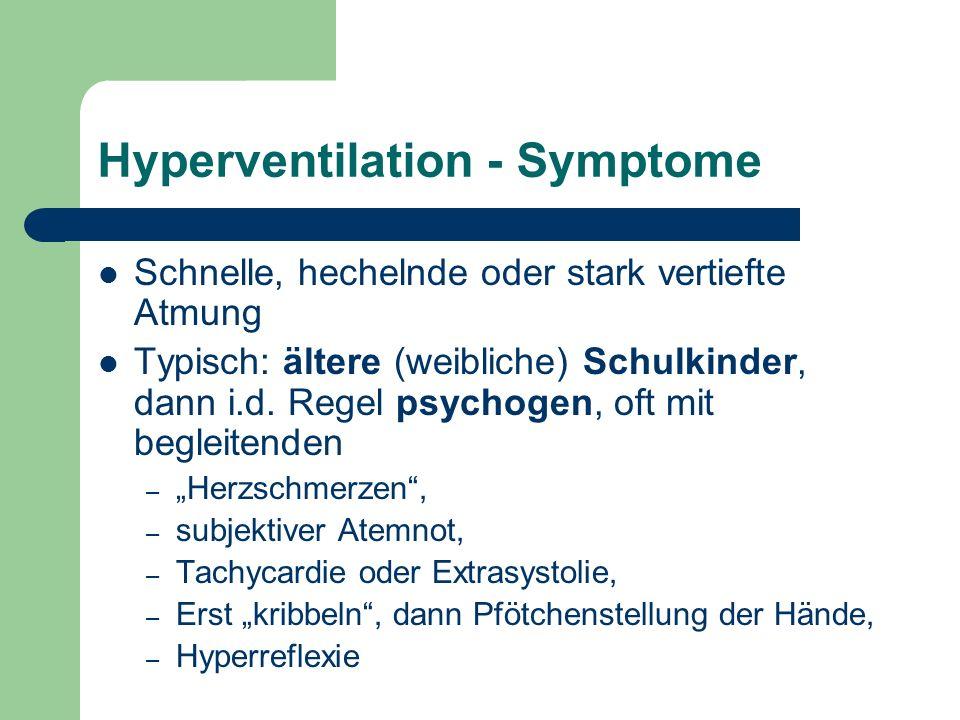 Hyperventilation - Symptome