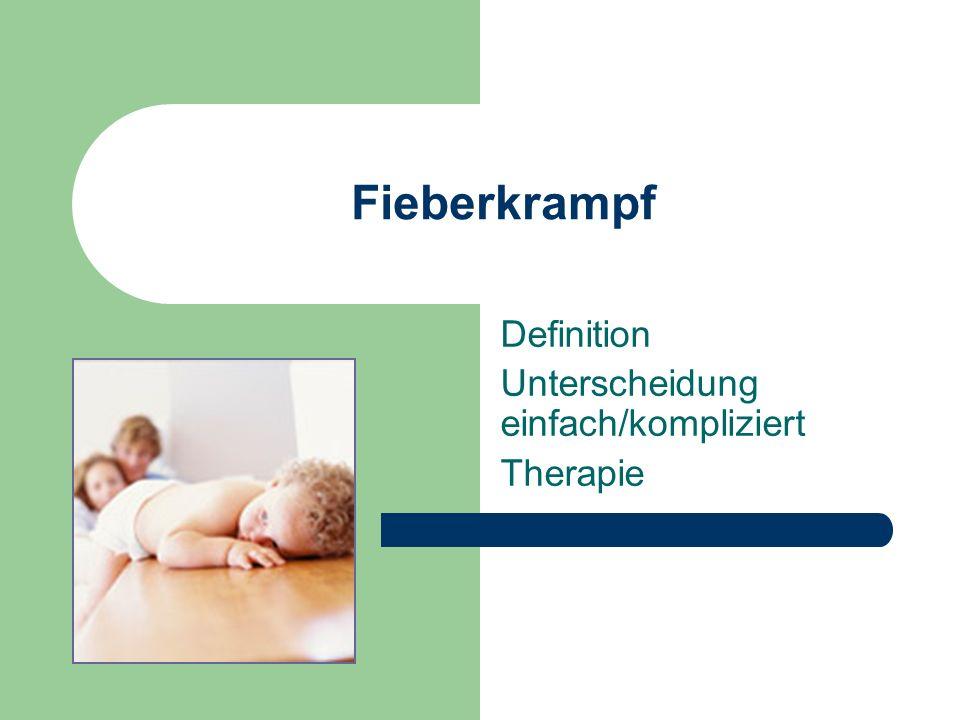 Definition Unterscheidung einfach/kompliziert Therapie