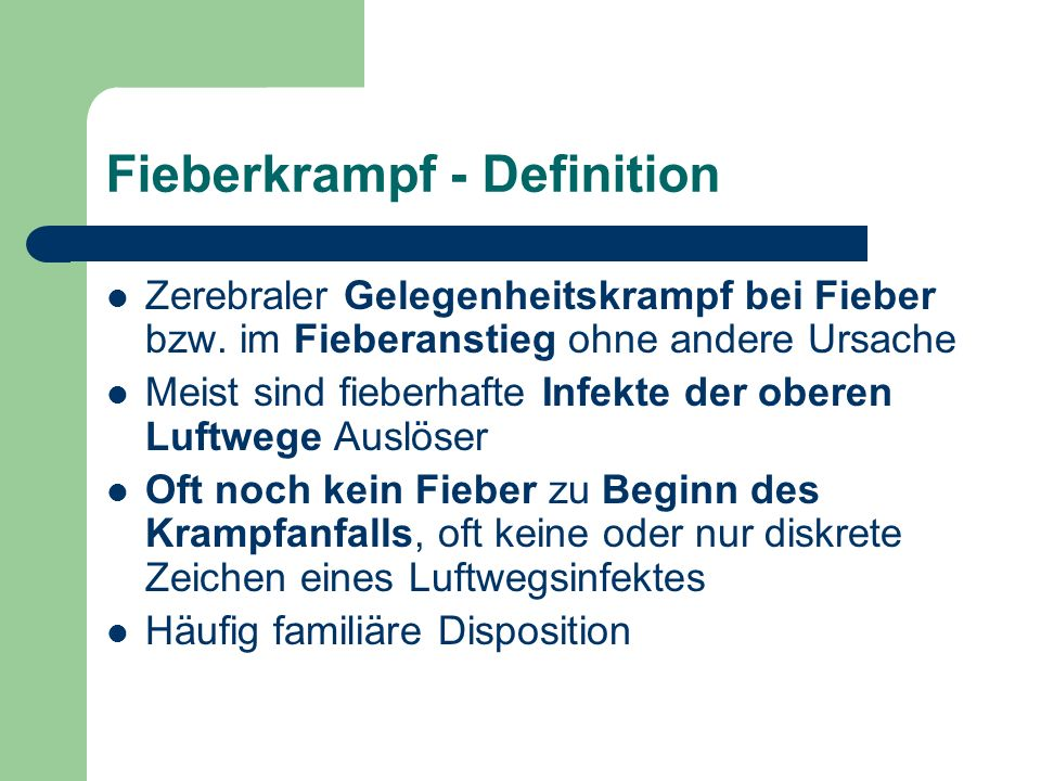 Fieberkrampf - Definition