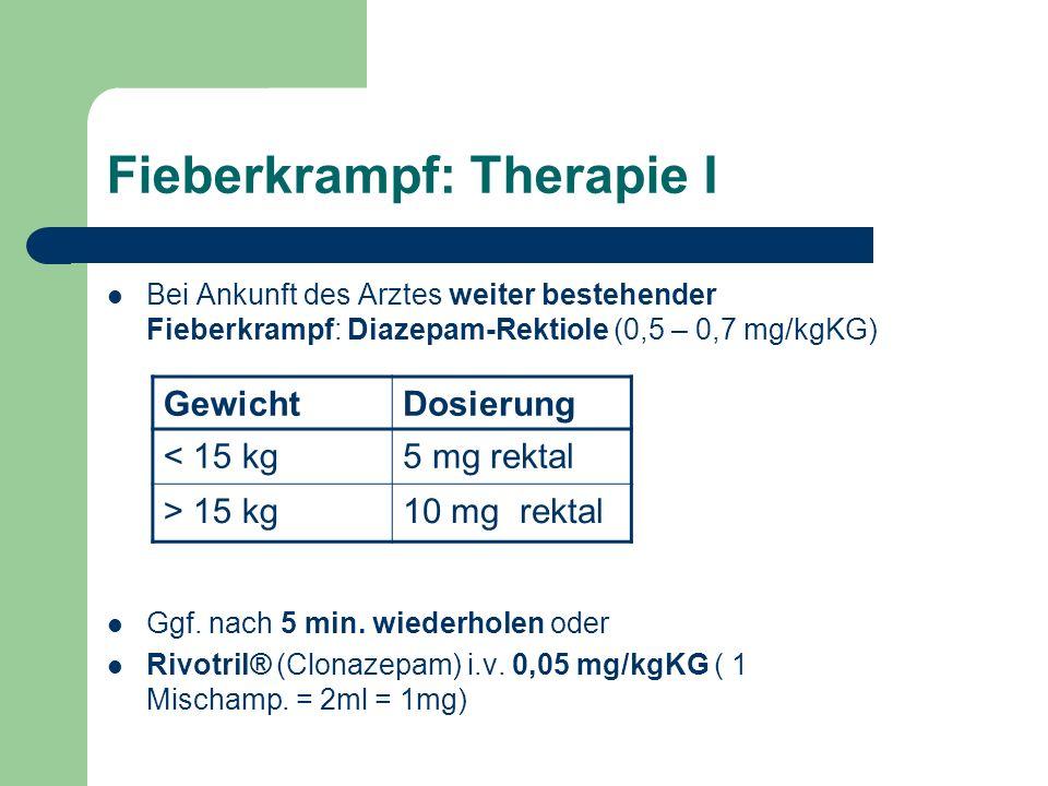 Fieberkrampf: Therapie I