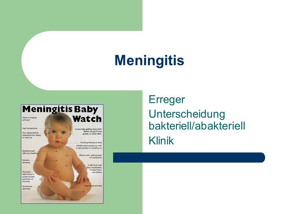 Erreger Unterscheidung bakteriell/abakteriell Klinik
