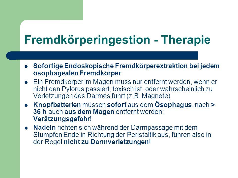 Fremdkörperingestion - Therapie