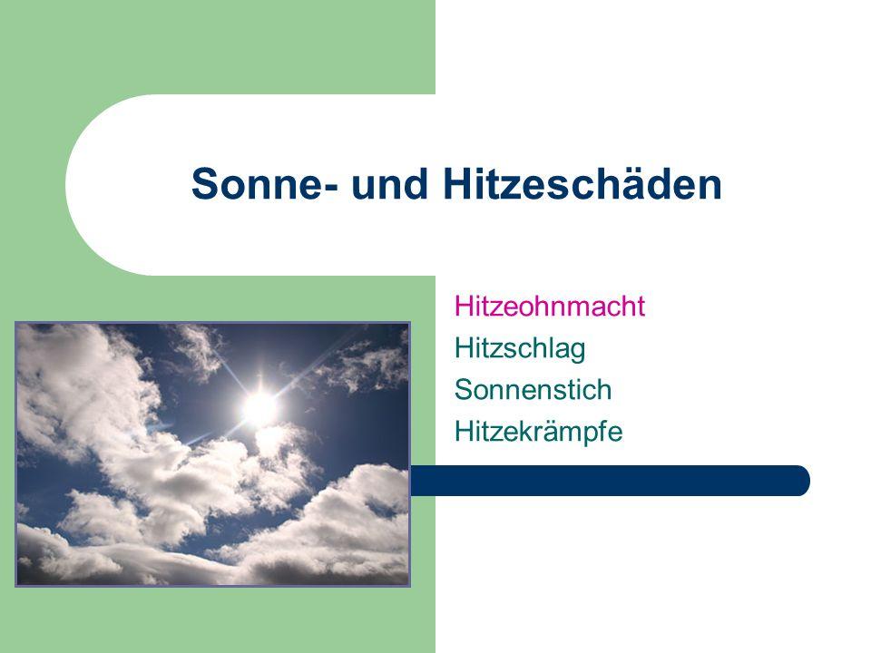 Sonne- und Hitzeschäden