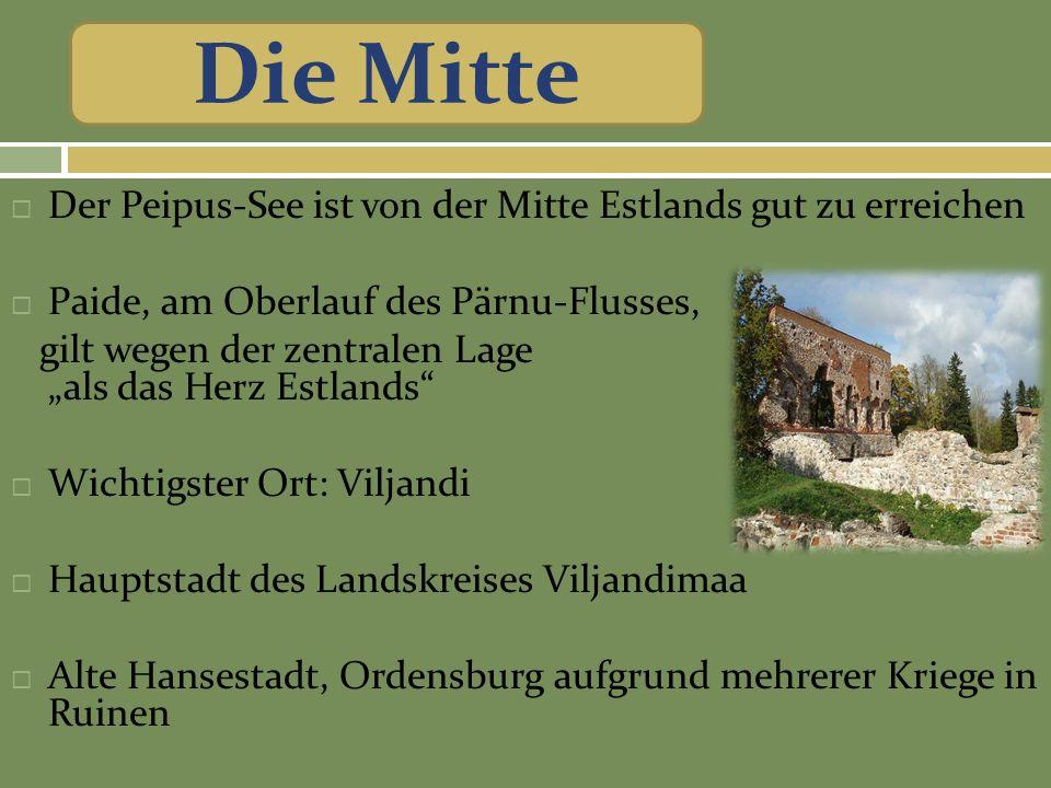 Die Mitte Der Peipus-See ist von der Mitte Estlands gut zu erreichen